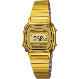 Casio Watches LA670WEGA-9EF Unisex Retro Casio Digital Gold Watch