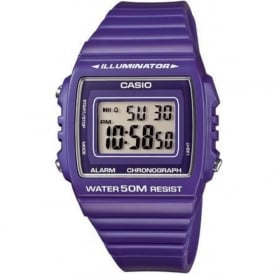Casio Watches W-215H-6AVEF Digital Purple Unisex Retro Watch