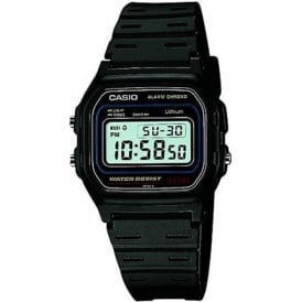 Casio Watches W-59-1VQES Black Rubber Digital Retro Men's Watch