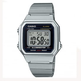 B650WD-1AEF Casio Digital Silver Stainless Steel Watch