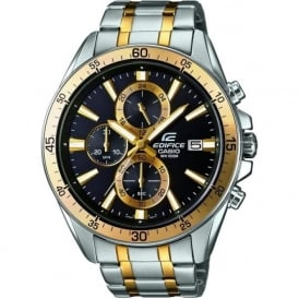 Casio Watches EFR-546SG-1AVUEF Edifice Gold and Silver Stainless Steel Chronograph Watch