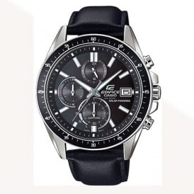 EFS-S510L-1AVUEF Edifice Leather Chronograph Solar Powered Watch
