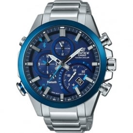 Casio Watches EQB-500DB-2AER Edifice Blue & Silver Stainless Steel Men's Watch