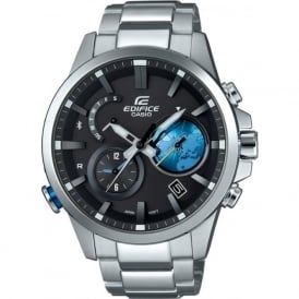 Casio Watches EQB-600D-1A2ER Edifice 3D Globe Dial Display Bluetooth Men's Watch