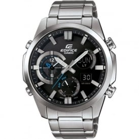 Casio Watches ERA-500D-1AER Edifice Black & Silver Stainless Steel Chronograph Men's Watch
