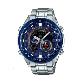 ERA-600RR-2AVUEF Edifice Blue & Silver Stainless Steel Men's Watch