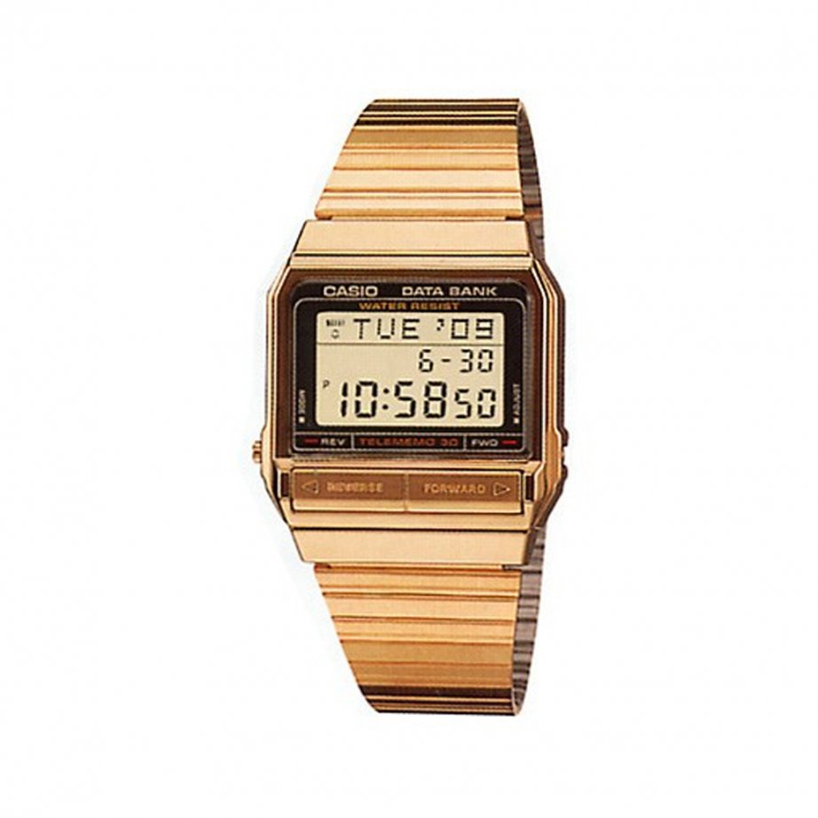 gold stainless steel casio unisex buy gold