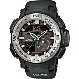 Casio Watches PRG-280-1ER Pro Trek Silver & Black Rubber Men's Watch