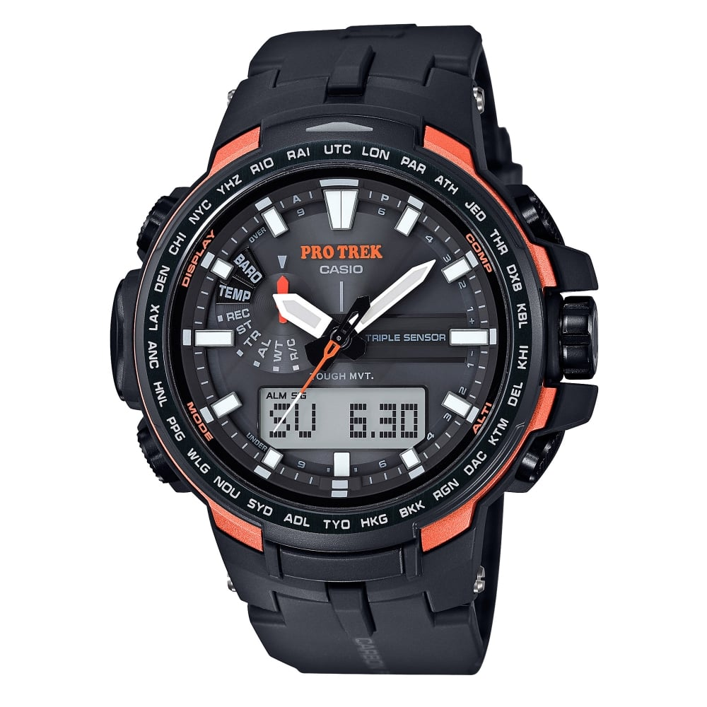 casio sport prw 6100y 1er pro trek black carbon resin watch casio watches prw 6100y 1er pro trek black carbon resin solar men s watch