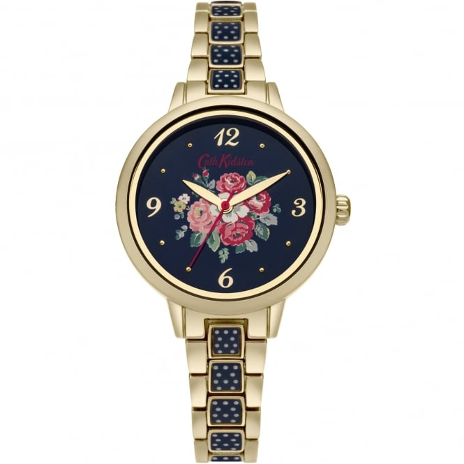 Cath Kidston CKL008UGM Forest Bunch Navy & Gold Stainless Steel Ladies Watch