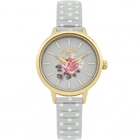CKL009EG Richmond Rose Polka Dot Gold & Grey Expander Watch