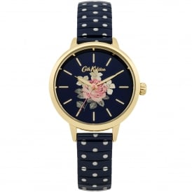 CKL009UG Richmond Rose Polka Dot Gold & Blue Expander Ladies Watch