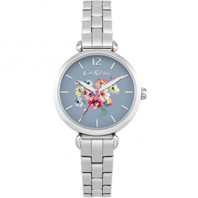 Cath Kidston CKL015SM Mallory Bunch Blue & Silver Stainless Steel Ladies Watch