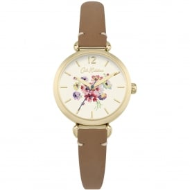 CKL015TG Mallory Bunch Gold & Tan Leather Ladies Watch