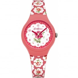 CKL025P Provence White & Pink Floral Silicone Ladies Watch