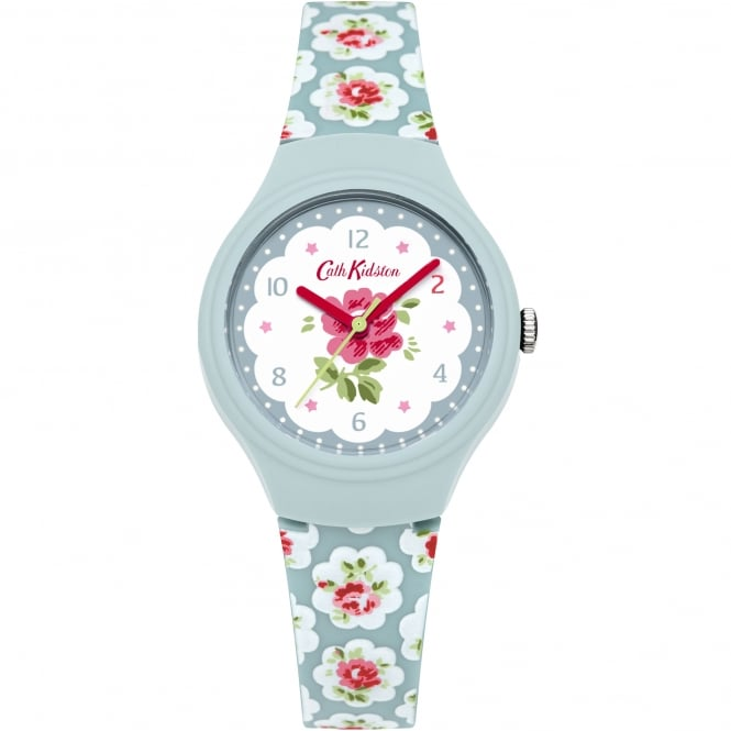 Cath Kidston CKL025U Provence White & Blue Floral Silicone Ladies Watch