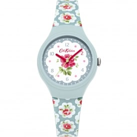 CKL025U Provence White & Blue Floral Silicone Ladies Watch