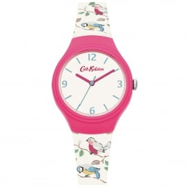 CKL026WP Little Birds Pink & White Silicone Ladies Watch