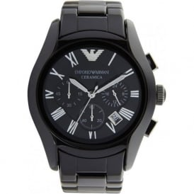 Armani Watches Ceramic Black Mens Chronograph Watch AR1400