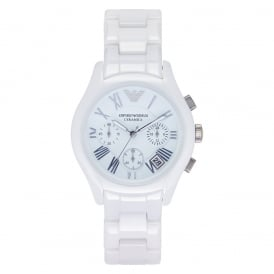 Ceramic White Womens Chronograph Watch AR1404