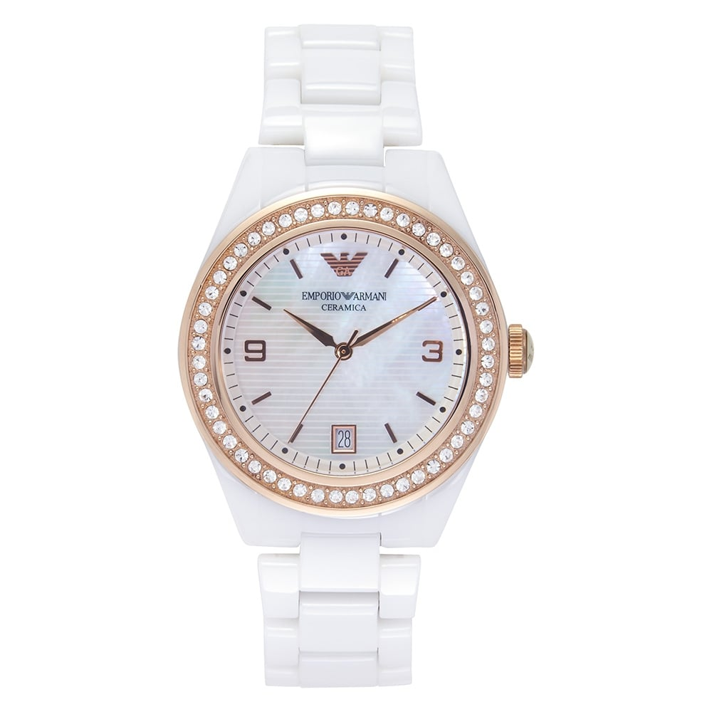 white ladies l armani watches exchange lady watch emporio larger view shopcom