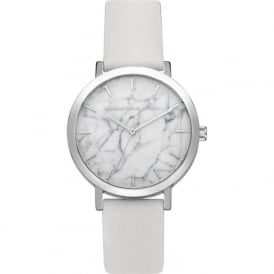 Christian Paul Watches MRL-03 Hayman Marble 35mm Silver & White Leather Watch