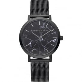 Christian Paul Watches MRML-01 The Strand Marble 35mm Black Mesh Watch