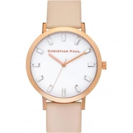 Christian Paul Watches SW-07 Bondi Luxe Rose Gold & Peach Leather Watch