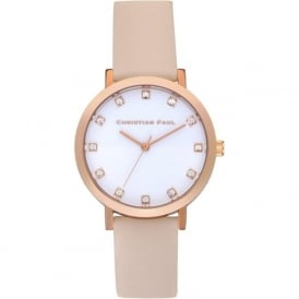 Christian Paul Watches SWL-02 Bondi Luxe Rose Gold & Peach Leather Watch