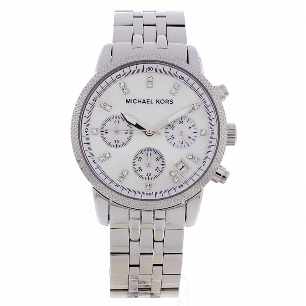 d7ed382768c0 Michael Kors chronograph silver watch MK5020