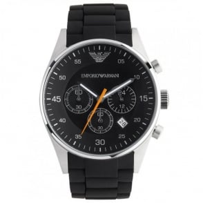 Armani Watches Classic Black Mens Chronograph Watch AR5858