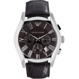 Armani Watches Classic Brown Leather Mens Chronograph Watch AR0671