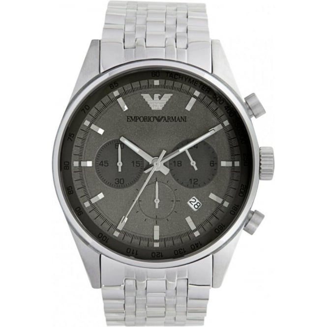 Armani Watches Classic Stainless Steel Mens Chronograph Watch AR5997