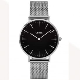 CL18106 La Bohème Black & Silver Mesh Ladies Watch