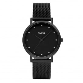 Cluse CL18304 Pavane Stones & Black Mesh Ladies Watch