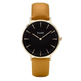 CL18420 La Bohème Gold Black & Mustard Leather Ladies Watch