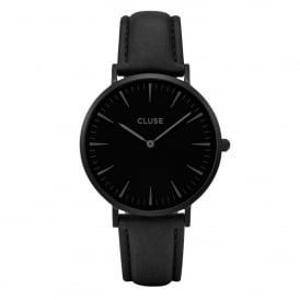 CL18501 La Bohème Full Black Leather Ladies Watch