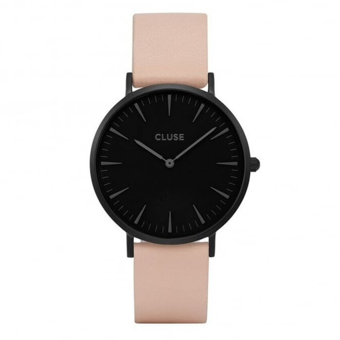 Cluse CL18503 La Bohème Full Black & Nude Leather Ladies Watch