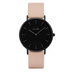 CL18503 La Bohème Full Black & Nude Leather Ladies Watch