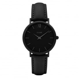 Cluse CL30008 Minuit Full Black Leather Ladies Watch
