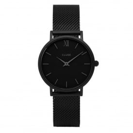 CL30011 Minuit Full Black Mesh Ladies Watch