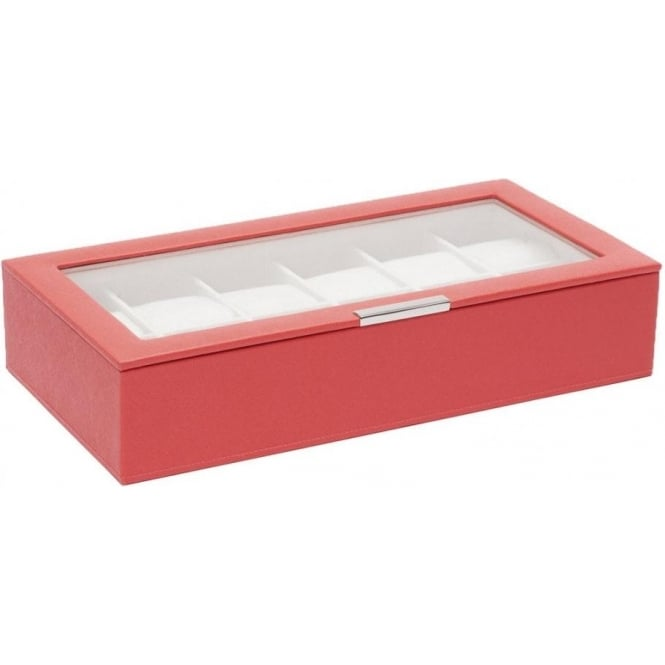 Wolf Designs Coral 12 Piece Watch Tray with Lid