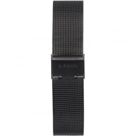 Christian Paul Watches CPM-03 43mm Black Metal Mesh Watch Strap
