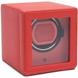 Wolf Designs Cub Coral Leather Single Watch Winder 1.8 with Cover
