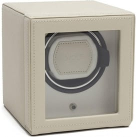 Wolf Designs Cub Cream Leather Single Watch Winder 1.8 with Cover