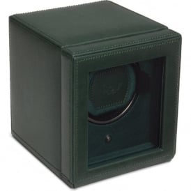 Wolf Designs Cub Green Leather Single Watch Winder 1.8 with Cover