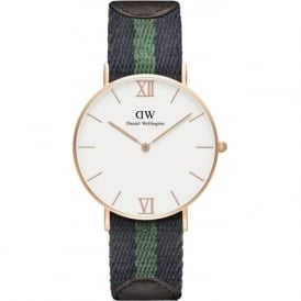 Daniel Wellington 0553DW Grace 36 Warwick Unisex Cotton & Brown Leather Watch