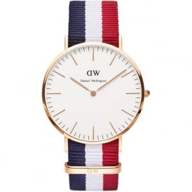 Daniel Wellington 0103DW Classic 40 Nato Cambridge Gents Nylon Watch