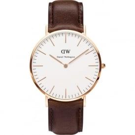 Daniel Wellington 0109DW Classic 40 Bristol Gents Brown Leather Watch
