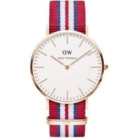 Daniel Wellington 0112DW Classic 40 Nato Exeter Gents Nylon Watch